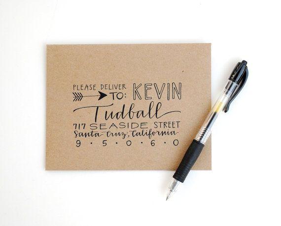 CUSTOM Envelope Addressing for Dena, Modern Calligraphy, Hand Lettering, Custom Script, Wedding Calligraphy, Handwritten Envelopes