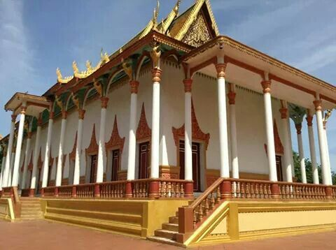 Khmer temple at Kampong Cham Province.