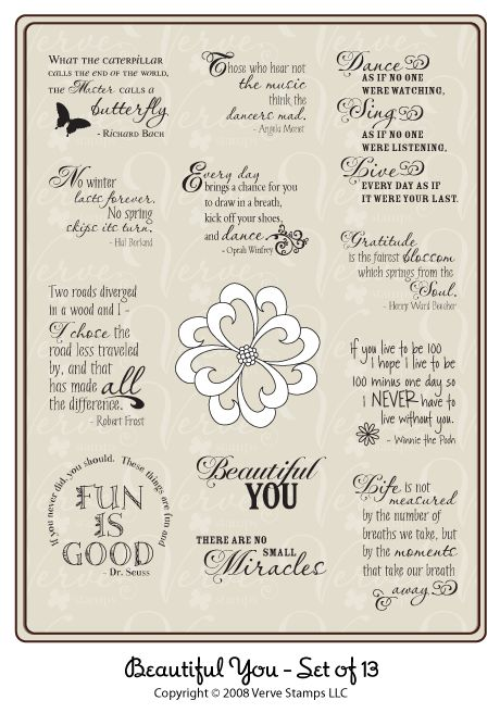 Verve Stamps - Beautiful You set