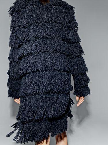 fringe knit dress long sweater jumper