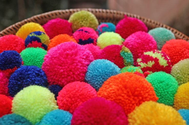 SHAMO bags pompoms rainbow love!