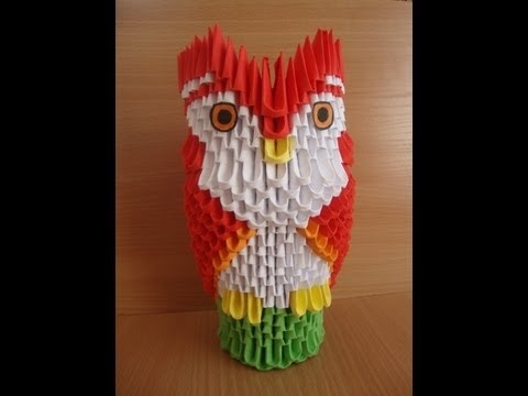 3D origami owl on a perch tutorial