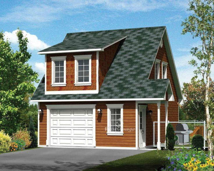 Cet élégant garage loft pouvant loger une voiture saura vous séduire. Il comprend une grande porte et des fenêtres à l'avant, et une porte d'entrée avec un petit porche sur le côté droit.<br/> Le loft comporte une salle de bains, une chambre avec une penderie, ainsi qu'un salon et une cuisine à aire ouverte.