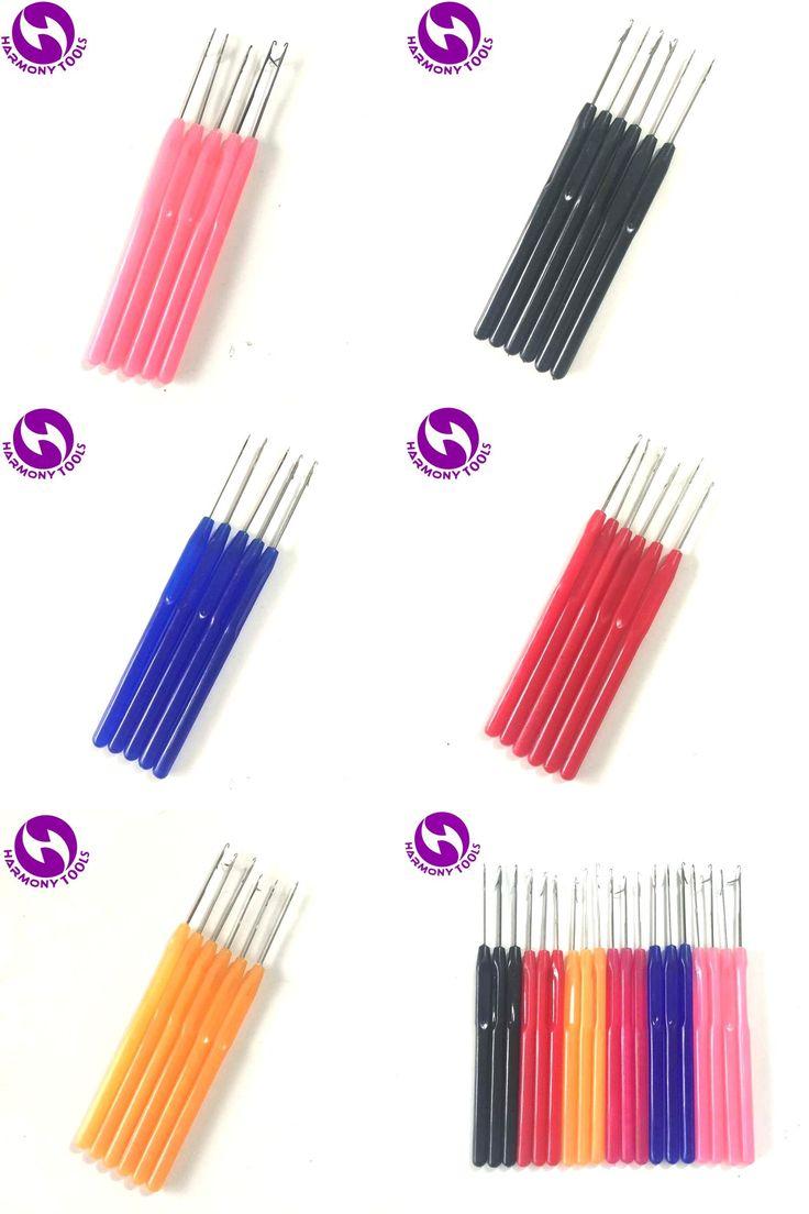 [Visit to Buy] Wholesale 1 piece plastic handle hook needle threader loop pulling needle for micro hair extensions tools #Advertisement