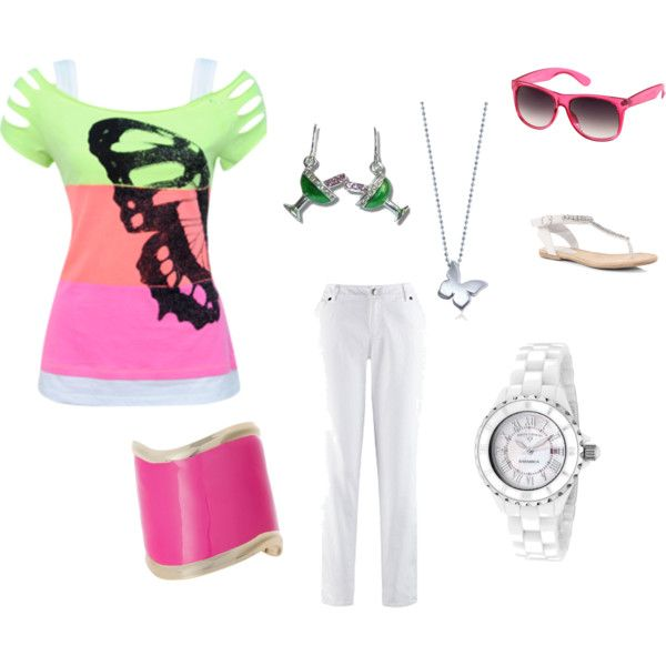 Summer Picnic Outfit - Plus Size with margarita earrings!