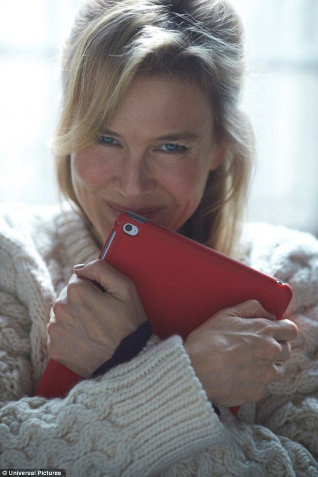 V. V. exciting! back! Renee Zellweger poses with her iPad in first promotional image for Bridget Jones's Baby