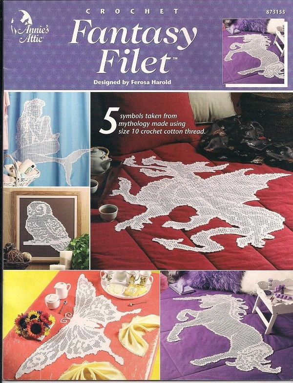 Unicorn Knitting Books : Crochet fantasy filet unicorn owl dragon mermaid