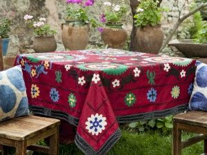 vintage suzani tablecloth
