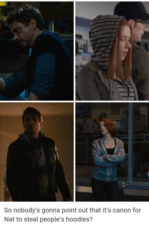 Natasha Romanoff, hoodie thief