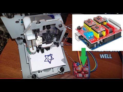 How to make GRBL+CNC V3 Shield+ Arduino based Mini CNC machine a Complete Giude - YouTube