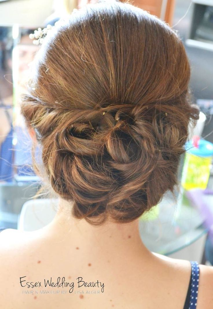 Bridal hair up vintage wedding