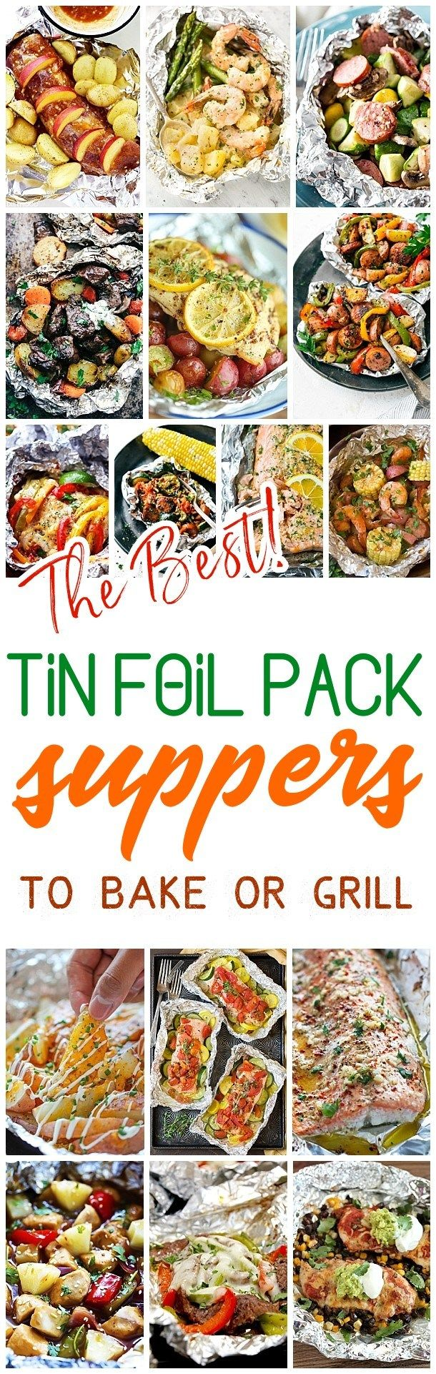 The Best Tin Foil Pack Suppers Recipes to Bake or Grill - Easy meal prep and easy cleanup! delicious chicken, beef, salmon, pork, shrimp and chicken tin foil packet dinners you and your family can enjoy making in the oven all year long, throwing on the backyard grill or tossing in the campfire coals this summer! Dreaming in DIY