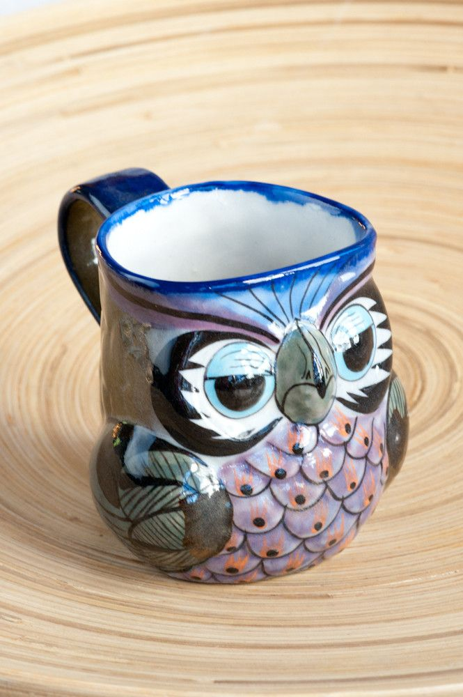 Owls are nocturnal birds and our wise old Guatemalan Owl Mug is sure to lull you to sleep at night with a warm cup of tea and wake you with a smile for your first sip of coffee in the morning. Handcra