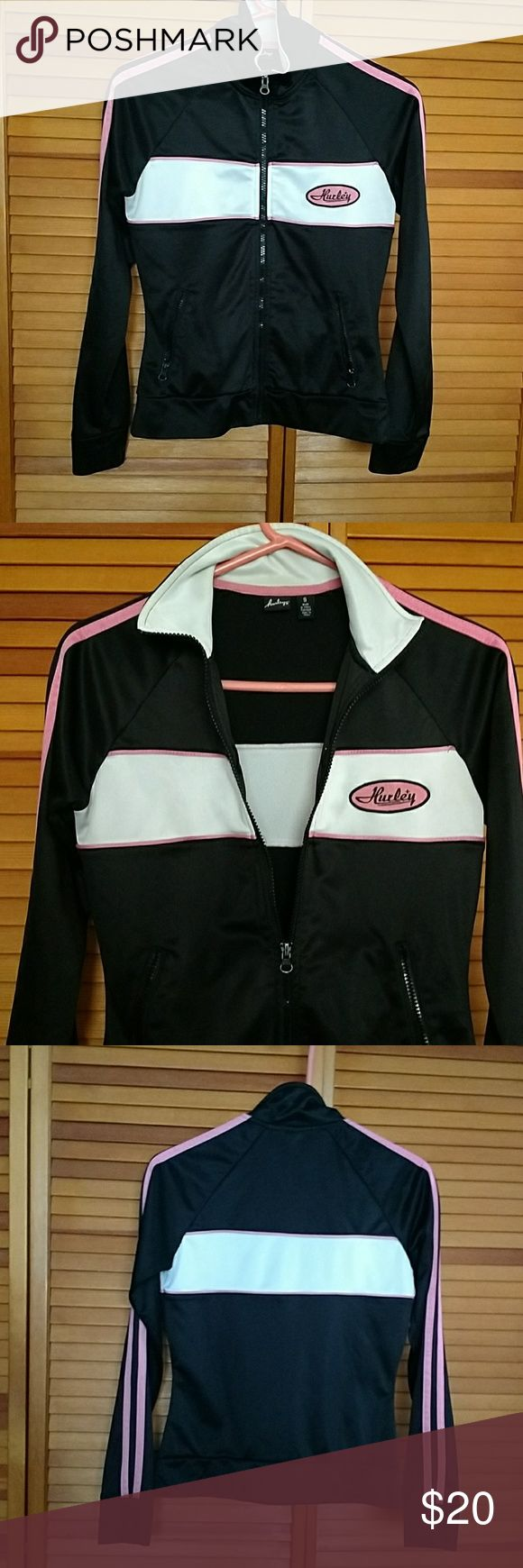 Hurley zip up jacket Zip up jacket has Hurley logo on the front of the jacket Hurley Jackets & Coats