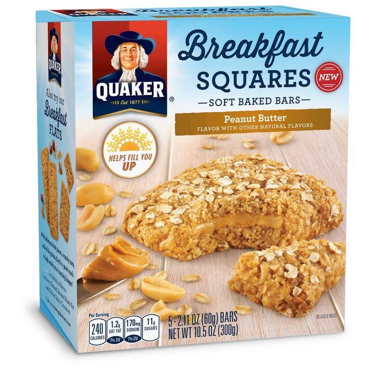 Quaker Breakfast Squares Peanut Butter - 5ct 10.5oz