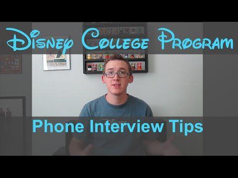 Disney College Program Phone Interview Tips   ADvice #4   YouTube