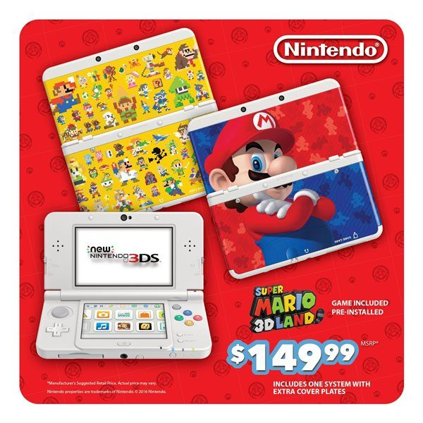 Nintendo reveals Back to School Mario-themed 3DS bundle amiibo and game deals
