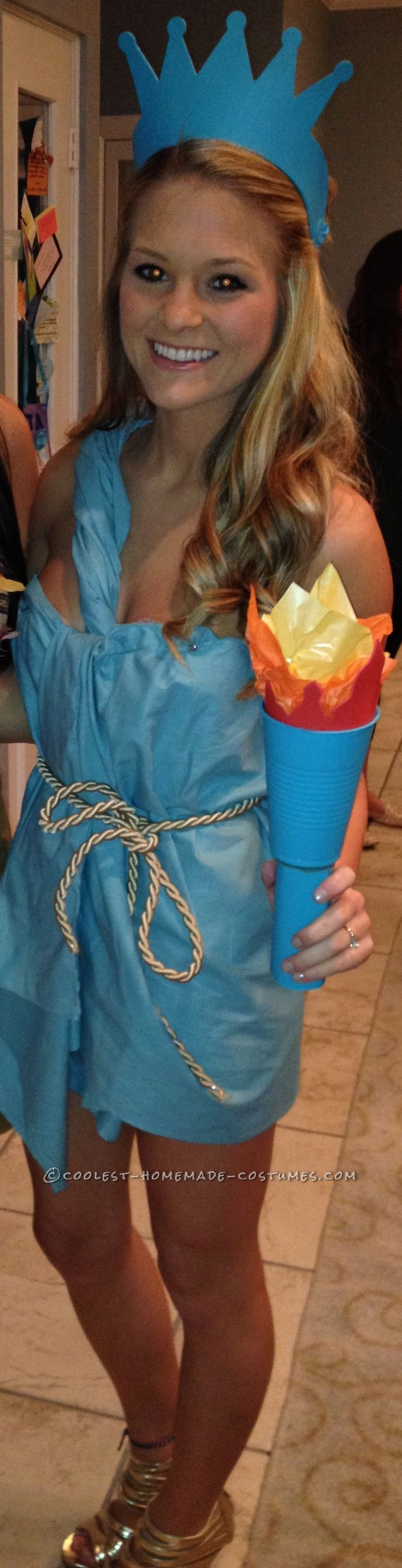 Cheap and Sexy Lady Liberty Costume… Coolest Halloween Costume Contest