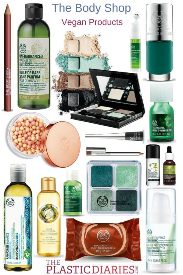 The Body Shop vegan products list on ThePlasticDiaries...