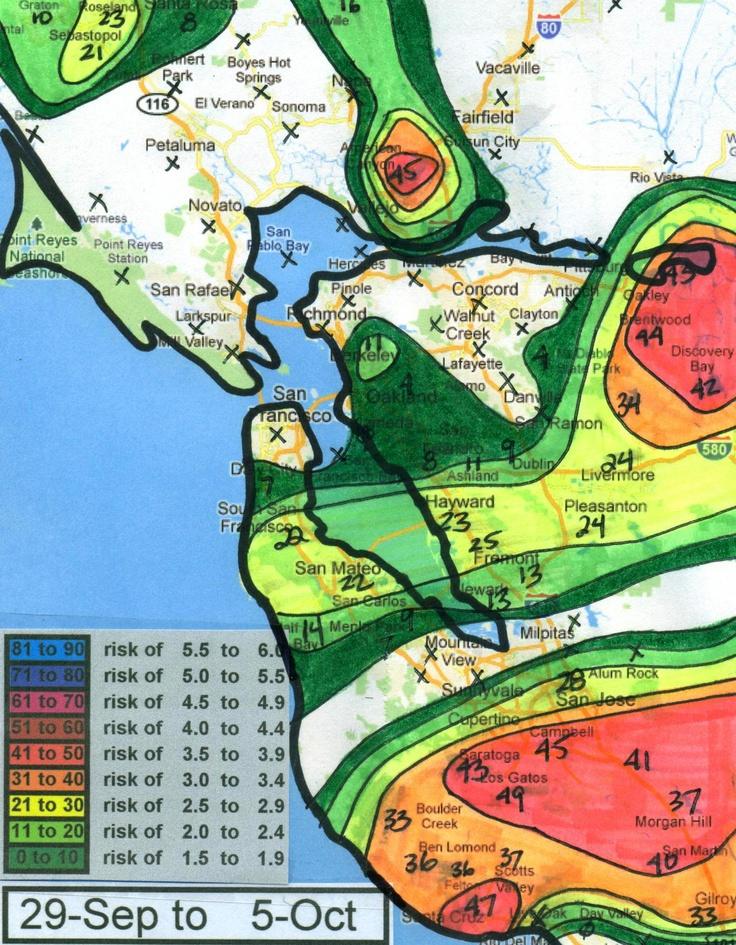 Handdrawn maps of earthquake forecasts / via Sha HwangInfographic Data, Handdrawn Maps, Forecast Infographic