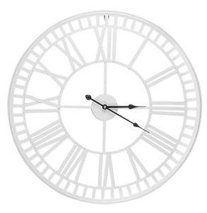 XL-White-Metal-Skeleton-Roman-Numeral-Wall-Clock-60cm-Next-Day-Despatch
