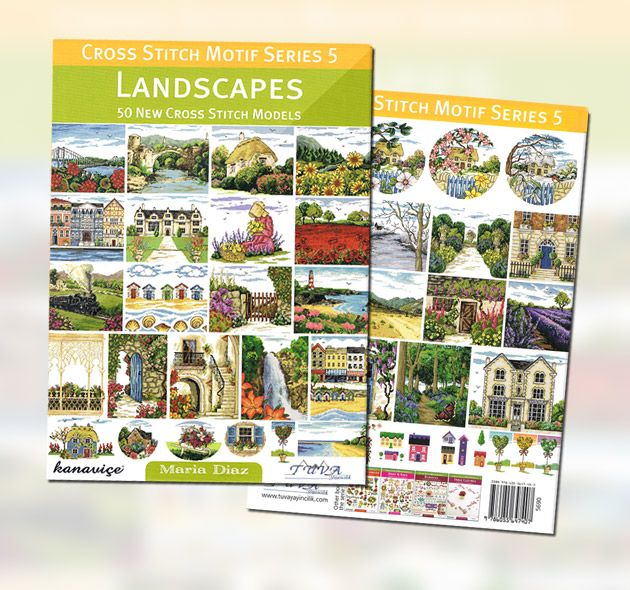 Maria Diaz Designs: Cross Stitch Motif Series 5 - Landscapes (Book)