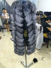 Natural silver fox fur vest Russian women coat Best Seller follow this link http://shopingayo.space