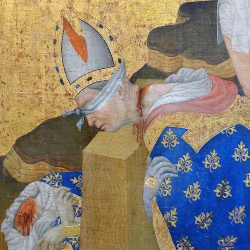 """Henri Bellechose (actif à Dijon entre 1415 et 1430) """"Le Retable de saint-Denis"""" dét. (1415-1416"""