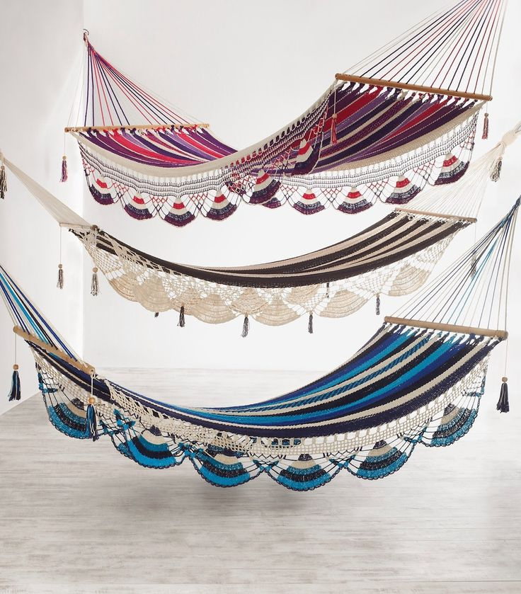 Image: Elle Décor   Hammocks: Nicaragua's Hang a Hammock Collective; handwoven cotton & sustainable local wood