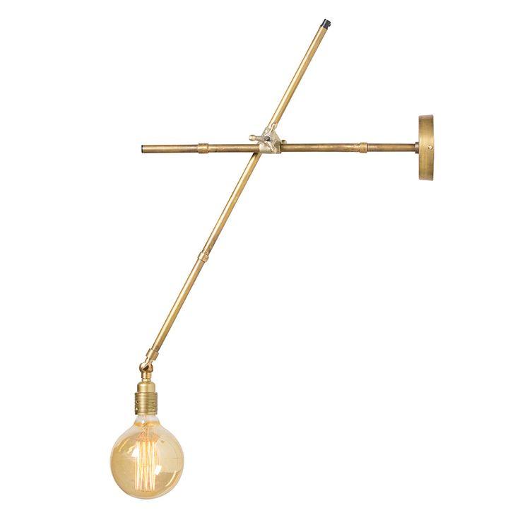 Osaka Vägglampa 73cm, Mässing, Watt & Veke
