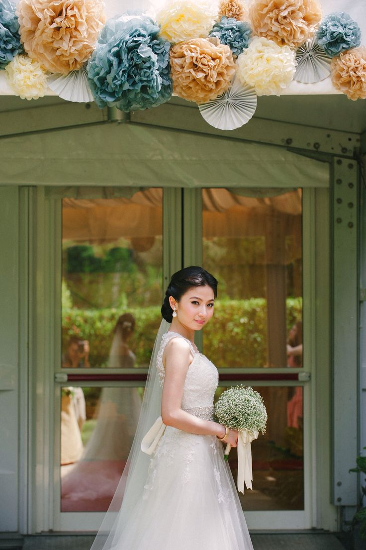 Our bride dressed in her bespoke Celest Thoi \