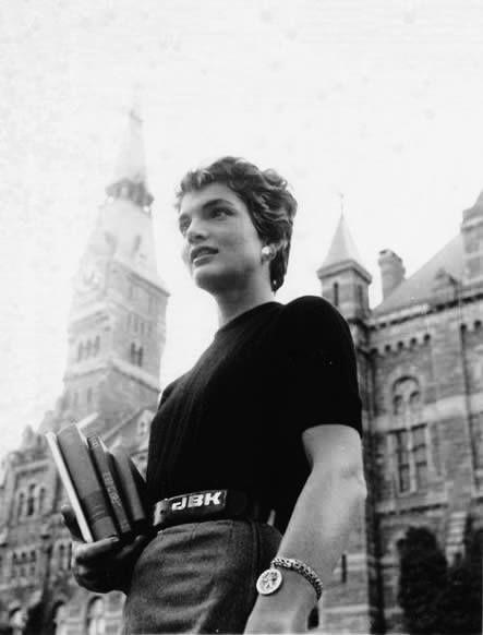 Jackie in 1954, at Georgetown University.