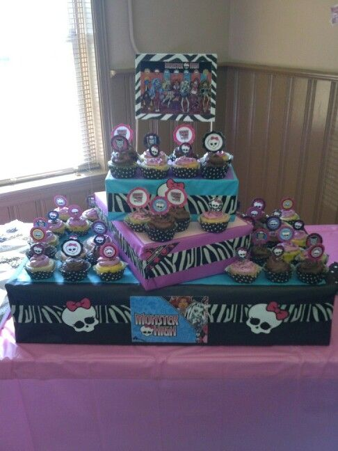 Monster High Cupcake Tower. It was a hit at my 10 year old's birthday party!