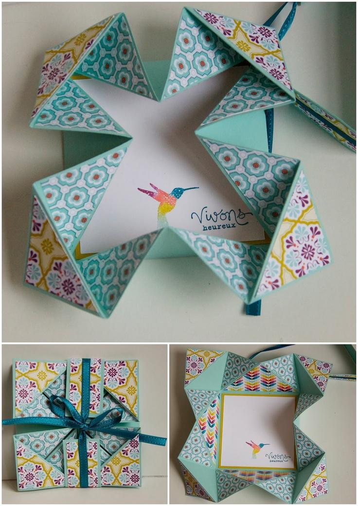 Plus de 25 id es uniques dans la cat gorie bo tes d 39 origami sur pinterest tutoriel bo te - Origami boite coeur ...