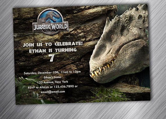 Invitation Template Jurassic Park Party