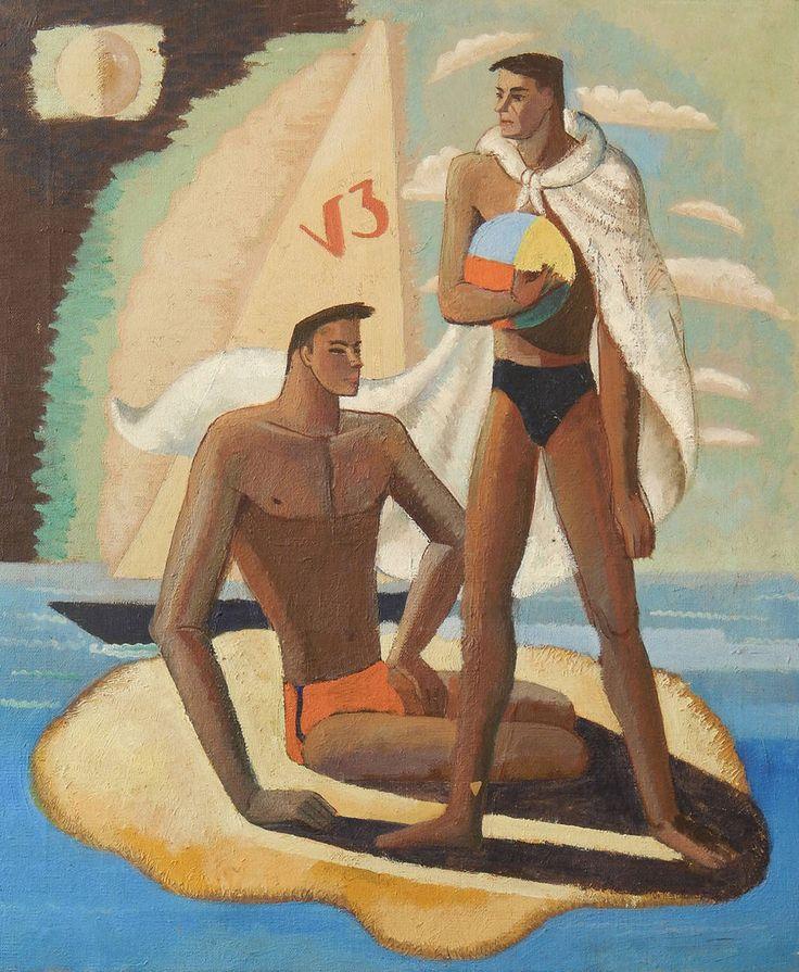 theonlyhankinla:  The Swimmers - Halley Johnson 1934