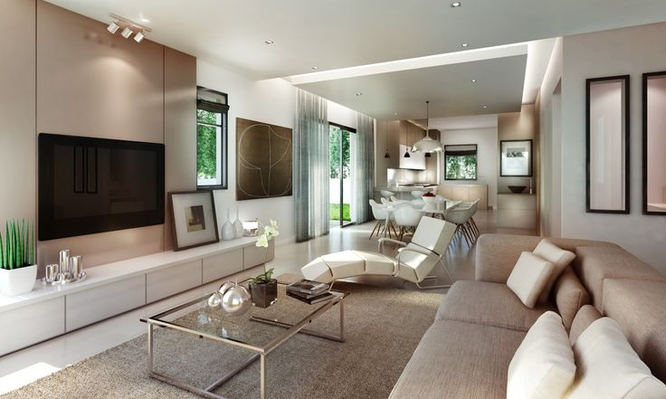 Fabulous living room design with white color.