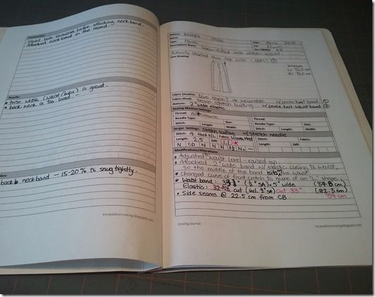 Sewing Journal Pages (PDF download). This is brilliant!