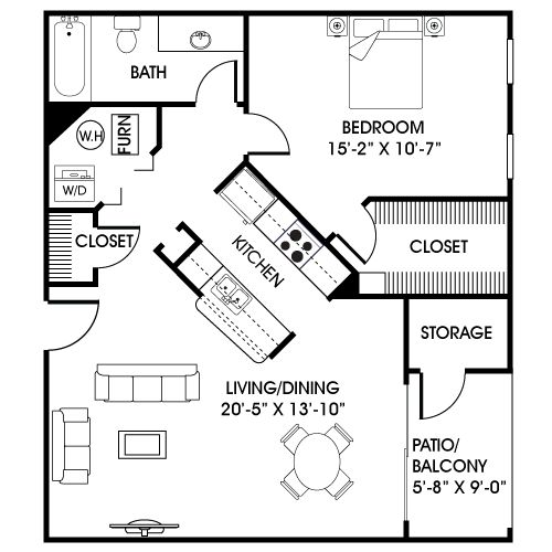 Small Apartment Kitchen Floor Plan 71 best floor plans (under 1000 sf) images on pinterest | small
