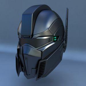 3d máximo robô futurista capacete