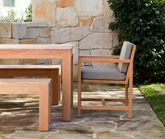 Seti Dining Chair with Chunky Table and Benches by Robert Plumb.