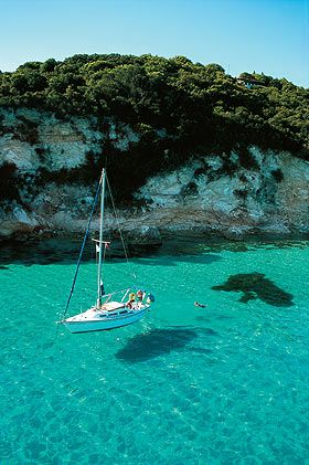 Sailing in Greek islands