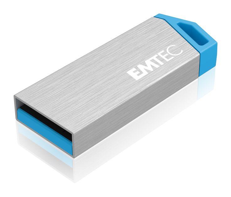 miniMetallic mini USB flash drive, front 3/4 - 32GB #EMTEC #FlashDrive
