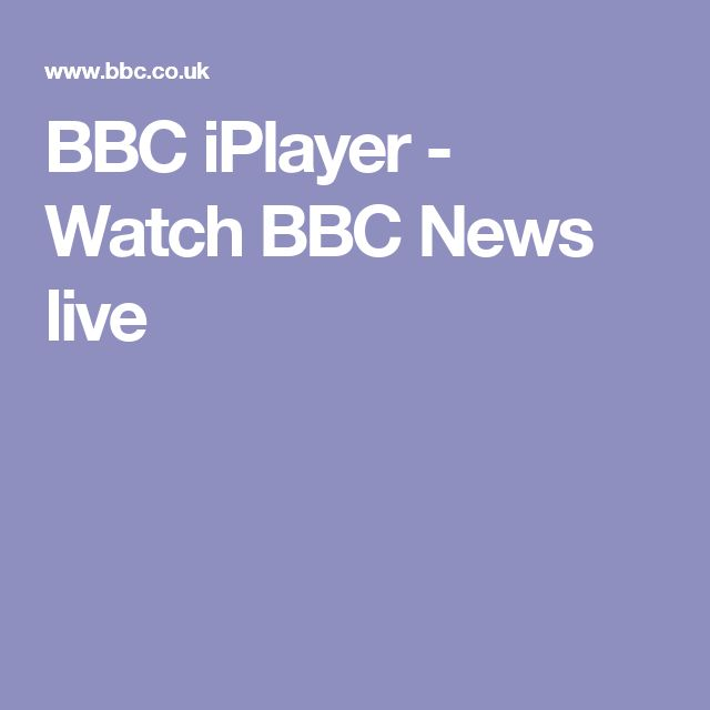 BBC iPlayer - Watch BBC News live