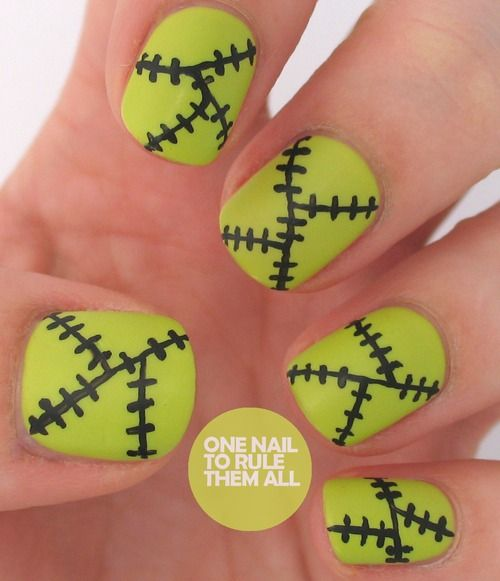 Frankenstein-ish nails by One Nail to Rule Them All