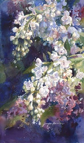#Art #Trees - Watercolor Paintings by Jennifer Bowman - love the colours use in this piece... http://www.ablankcanvas.net