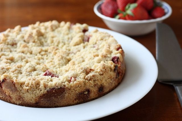 Strawberry Rhubarb Coffee Cake by Completely Delicious, via Flickr