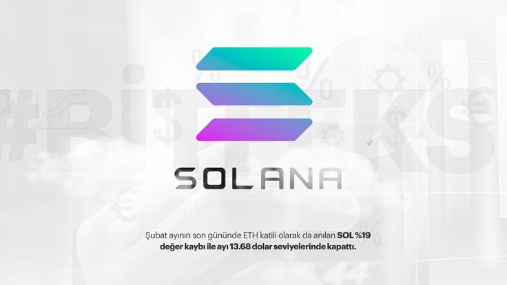 📉 Şubat ayının kaybedeni Solana SOL - şubat ayının son gününde ETH katili olarak da anılan SOL %19 değer kaybı ile ayı 13.68 dolar seviyelerinde kapattı. #bitfeks #bitcoin #crytocurrency #blockchain #crypto #btc #bitcoinnews #coin