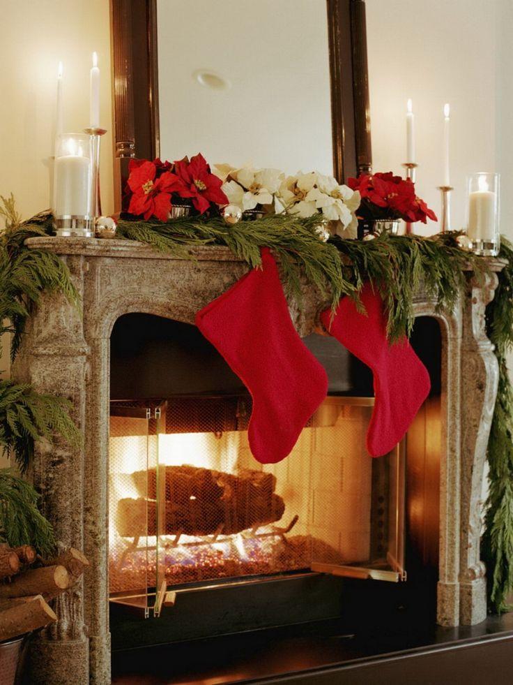 1134 best Christmas Mantels images on Pinterest   Christmas tree ...