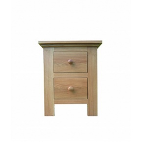 Lacar Solid Oak 2 Drawer Bedside / Lamp Table  www.easyfurn.co.uk